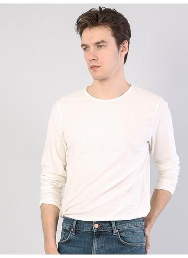 Colin's Uzun Kollu T-Shirt Beyaz